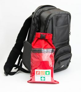 Travel safety grab bag